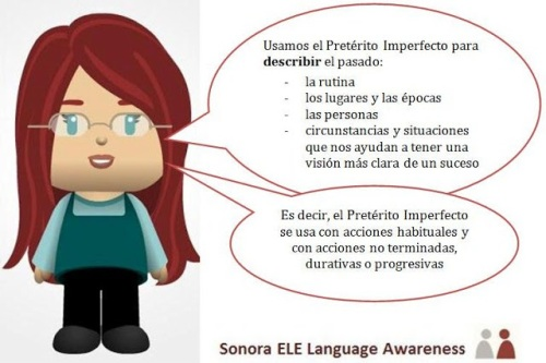 Uso del Imperfecto con logo de Sonora ELE