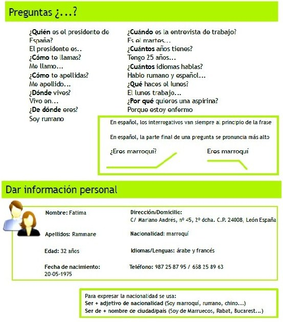 Información Personal Español Para Inmigrantes Y Refugiados