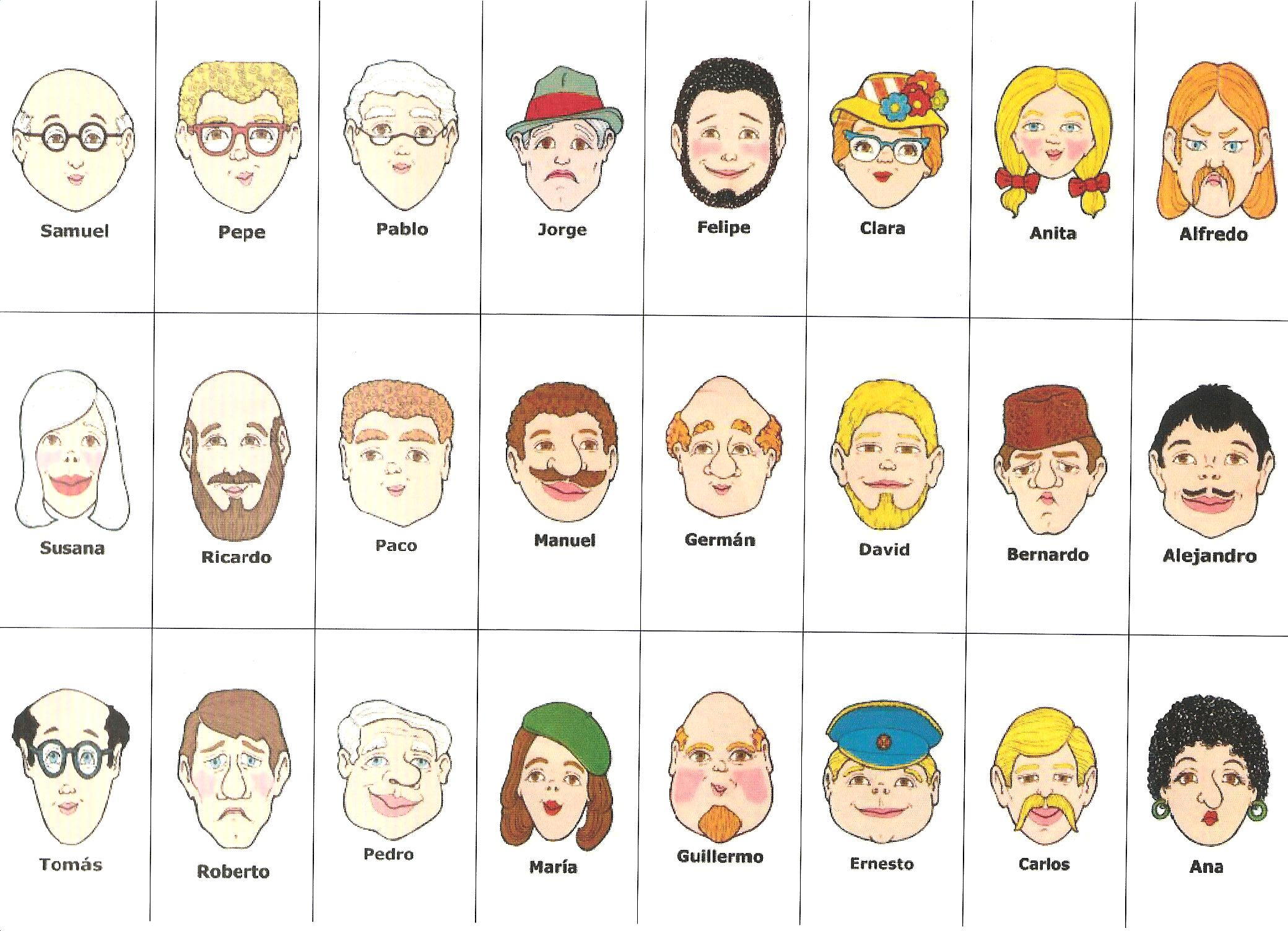DE PERSONAS(físico, carácter,personalidad,estados de ánimo ...